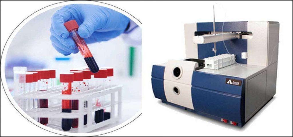 آنالیز فلزات سنگین خون با دستگاه جذب اتمی