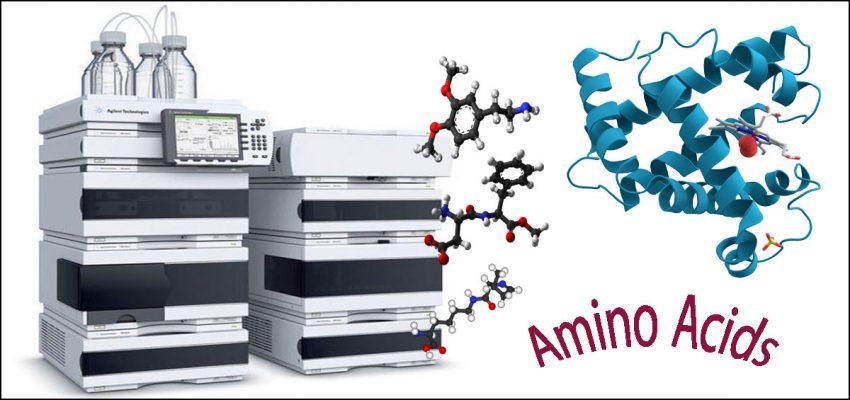 بررسی آمینو اسید ها با دستگاه HPLC