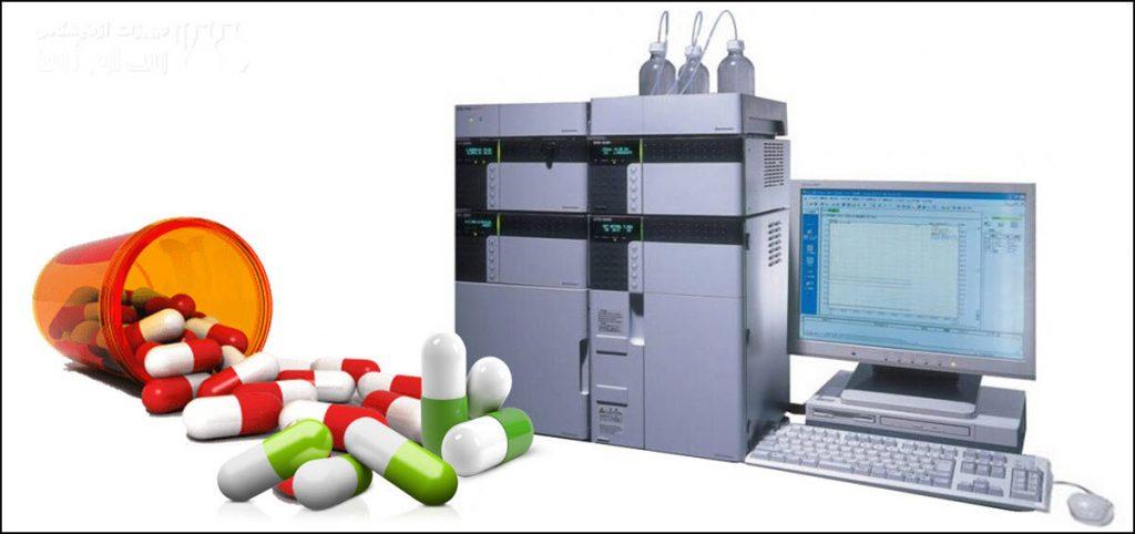 بررسی ترکیبات داروئی با دستگاه HPLC