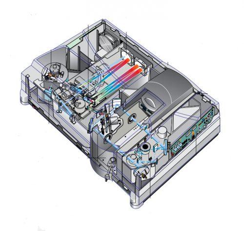 شمای داخلی اسپکتروفتومتر یو وی مدل Carry 4000
