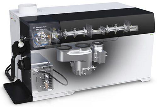 شمایی از دستگاه ICP MS 8900 triple quadrupole