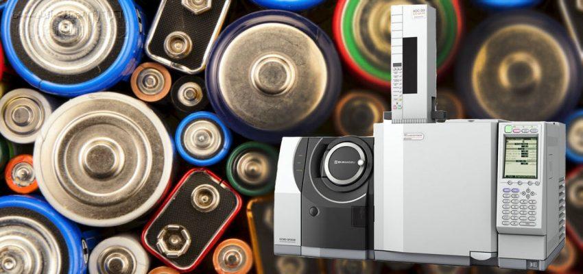 بررسی الکترولیت باتری با کروماتوگراف گازی-طیف سنج جرمی
