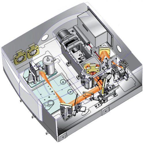 شمای داخلی از دستگاه Agilent Cary 600 Series FTIR