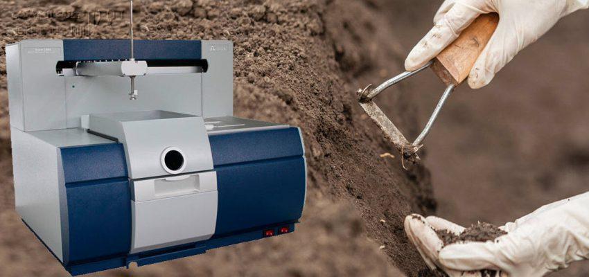 تعیین فلزات موجود در خاک با جذب اتمی شعله