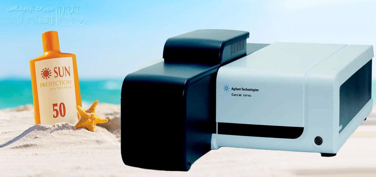 تعیین مقدار SPF کرم ضد آفتاب با UV/Vis