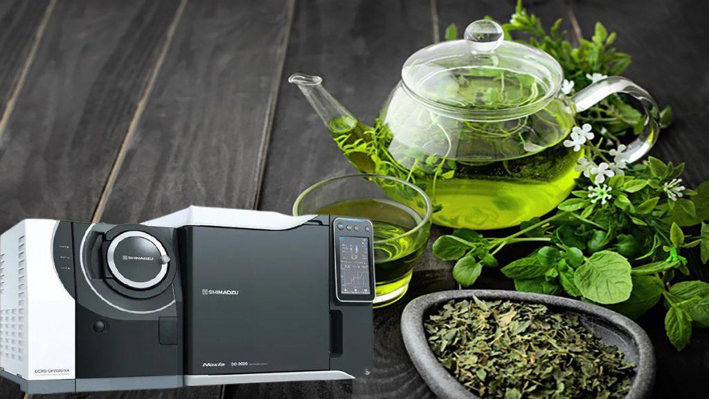 آنالیز سموم دفع آفات با حذف کافئین در چای سبز با دستگاه GC