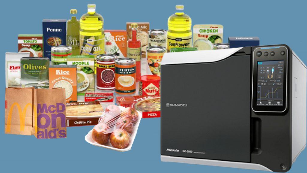 آنالیز بسته بندی مواد غذایی با دستگاه GCMS