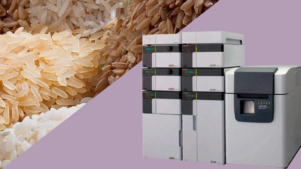 آنالیز اسیدهای چرب سبوس برنج با دستگاه LCMS 2020 shimadzu